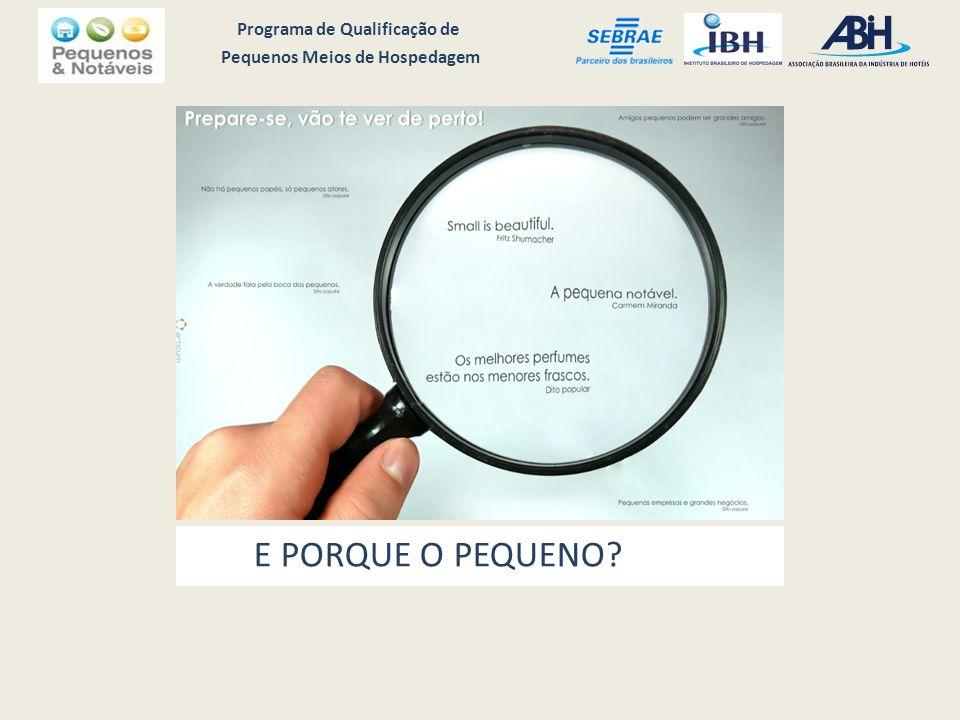 Programa de Qualificação de Pequenos Meios de Hospedagem E PORQUE O PEQUENO