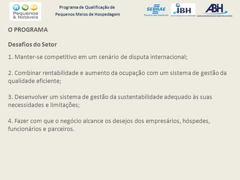 Programa de Qualificação de Pequenos Meios de Hospedagem O PROGRAMA Desafios do Setor 1.