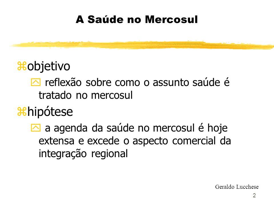 2 A Saúde no Mercosul zobjetivo y reflexão sobre como o assunto saúde é tratado no mercosul zhipótese y a agenda da saúde no mercosul é hoje extensa e