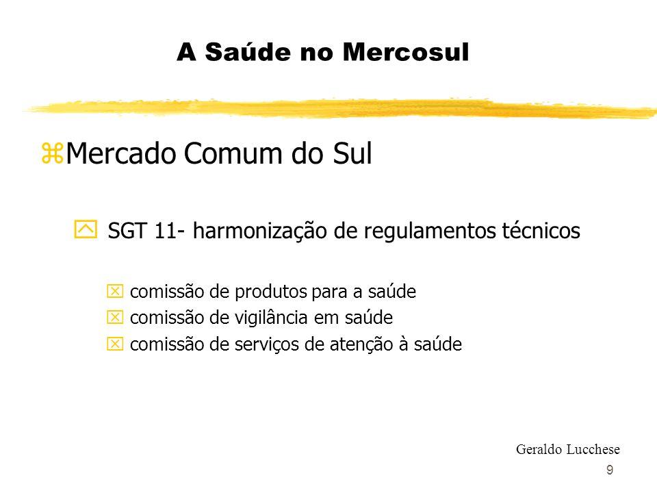 9 A Saúde no Mercosul zMercado Comum do Sul y SGT 11- harmonização de regulamentos técnicos x comissão de produtos para a saúde x comissão de vigilânc