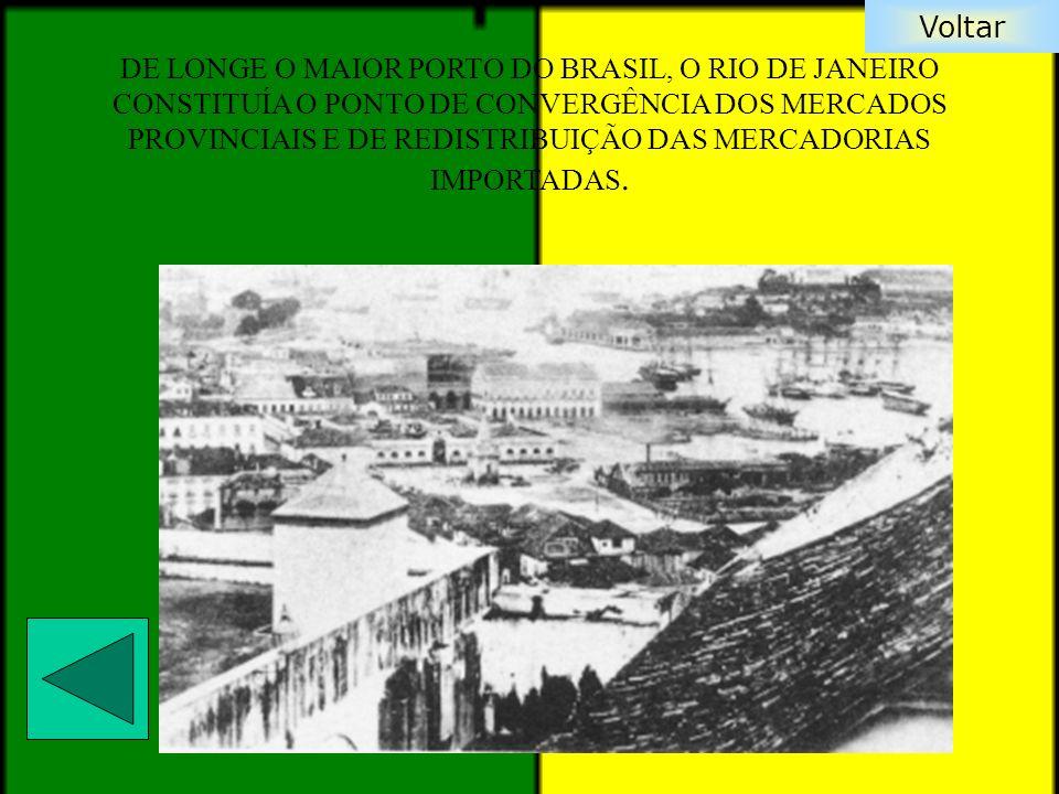 Voltar DE LONGE O MAIOR PORTO DO BRASIL, O RIO DE JANEIRO CONSTITUÍA O PONTO DE CONVERGÊNCIA DOS MERCADOS PROVINCIAIS E DE REDISTRIBUIÇÃO DAS MERCADOR