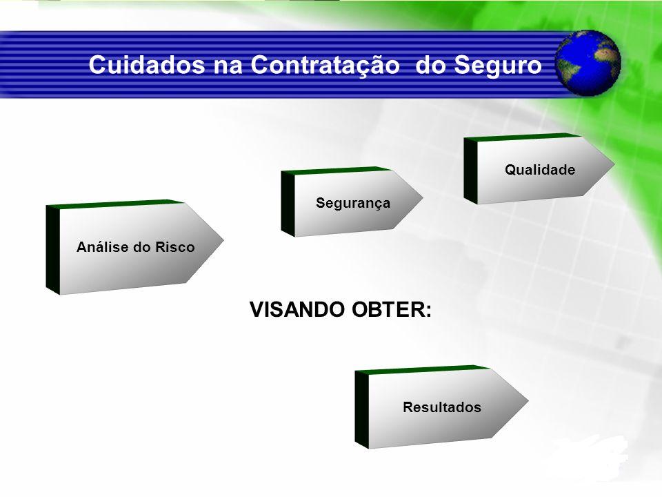 Segurança Resultados Qualidade Análise do Risco VISANDO OBTER: Cuidados na Contratação do Seguro