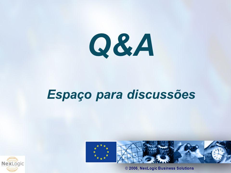 © 2006, NexLogic Business Solutions Q&A Espaço para discussões