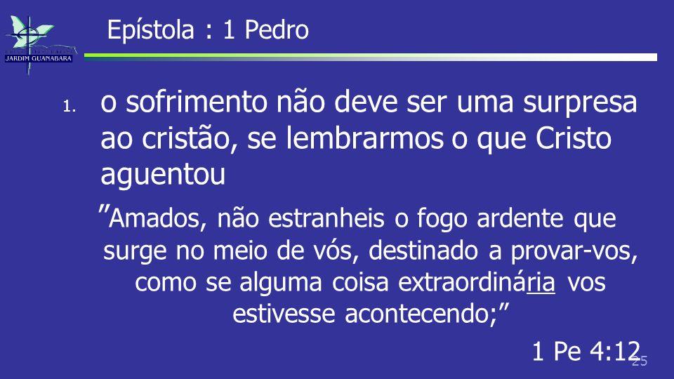 26 Epístola : 1 Pedro 2.
