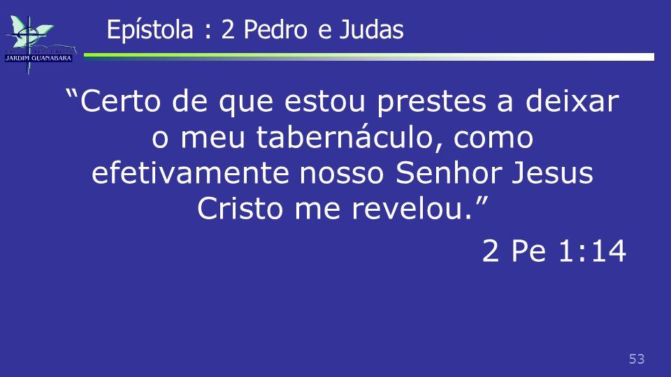 54 Epístola : 2 Pedro e Judas Esse é um dos motivos que os estudiosos que aceitam o apóstolo Pedro como o autor apresentam como argumento, mas outros contra- argumentam que era costume do judaísmo da época escrever o que