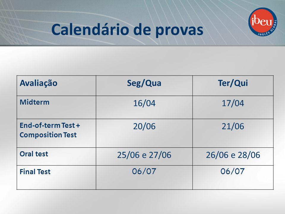 Monitoramento constante do professor Plano de estudos específico para cada necessidade Aulas de apoio Sistema de Apoio ao Aluno BOLETINS On line: www.ibeu.org.br Duas vezes por semestre!