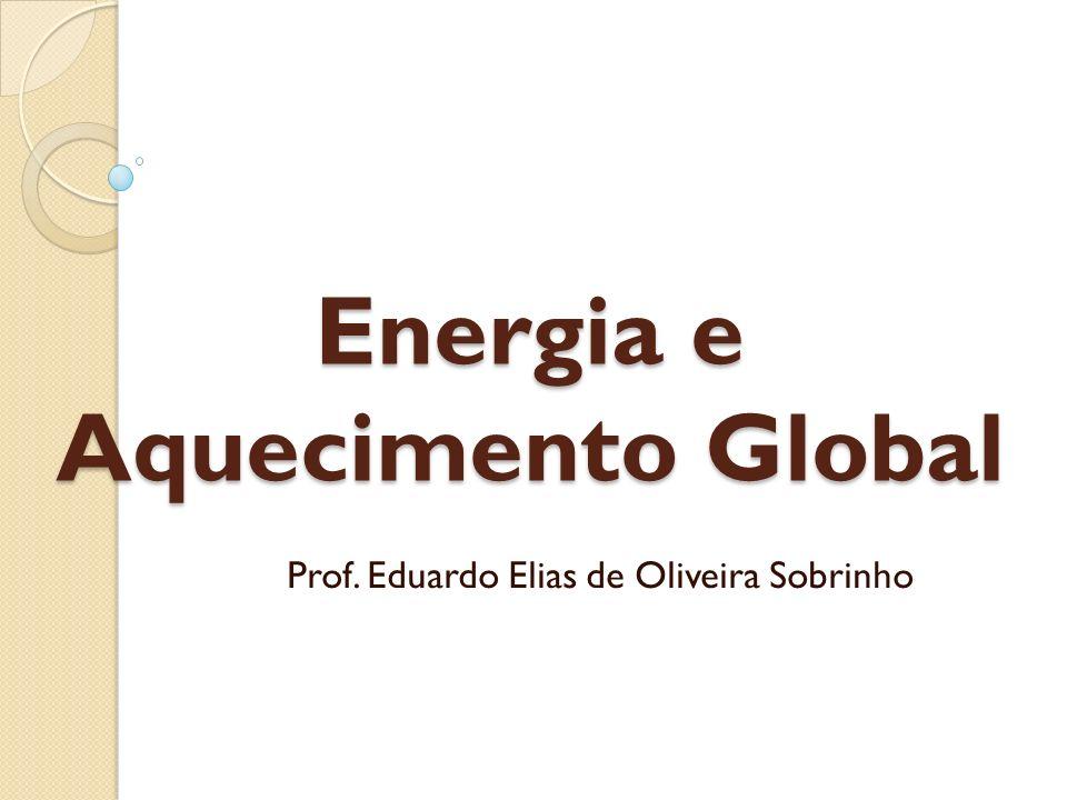 Energia e Aquecimento Global O consumo de energia é um espelho fiel do desenvolvimento tecnológico.