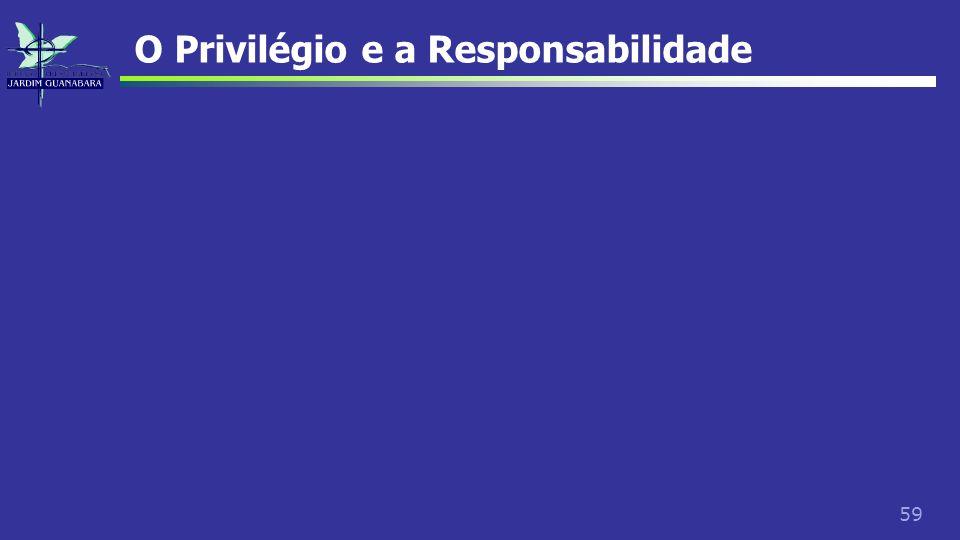 59 O Privilégio e a Responsabilidade