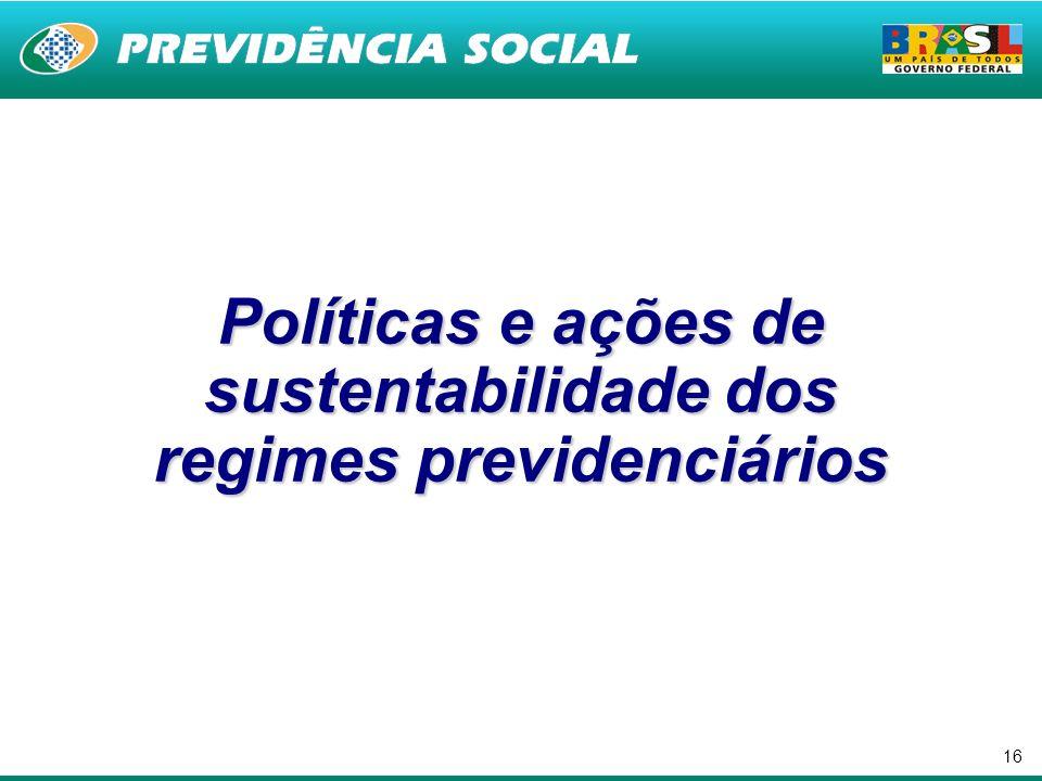 16 Políticas e ações de sustentabilidade dos regimes previdenciários