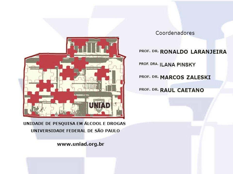 UNIDADE DE PESQUISA EM ÁLCOOL E DROGAS UNIVERSIDADE FEDERAL DE SÃO PAULO www.uniad.org.br PROF. DRA. ILANA PINSKY PROF. DR. MARCOS ZALESKI PROF. DR. R