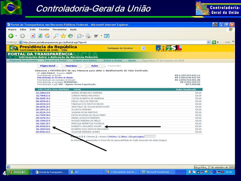 Controladoria-Geral da União 40