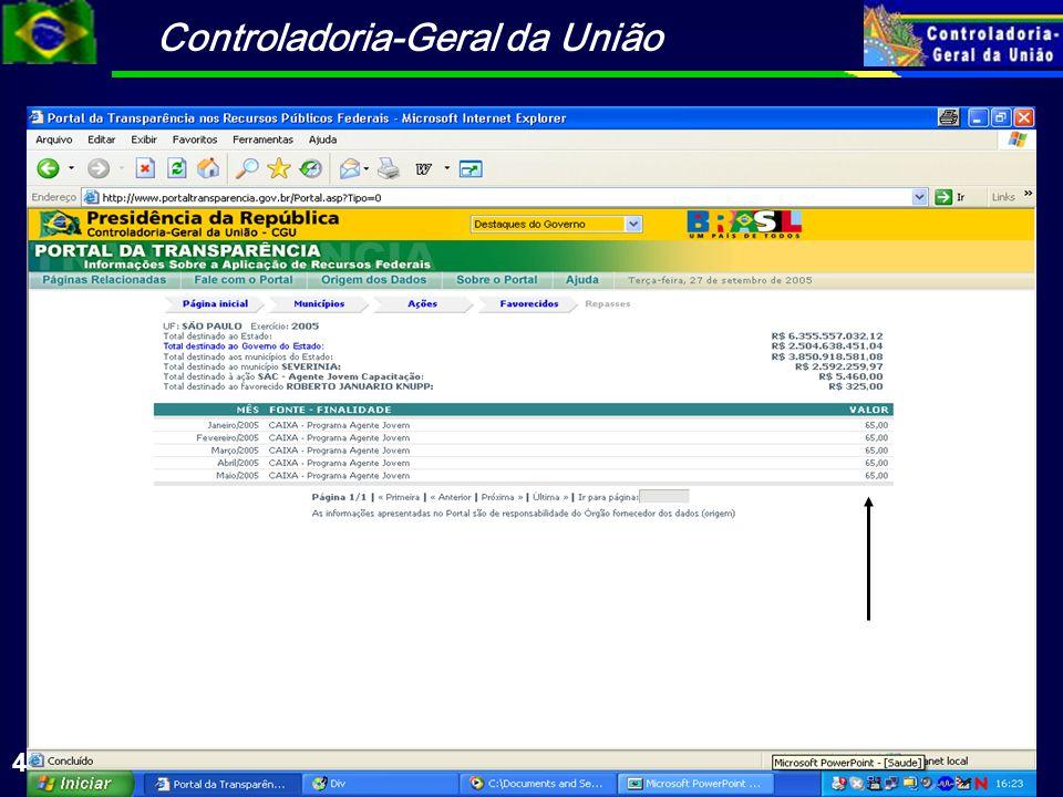 Controladoria-Geral da União 41