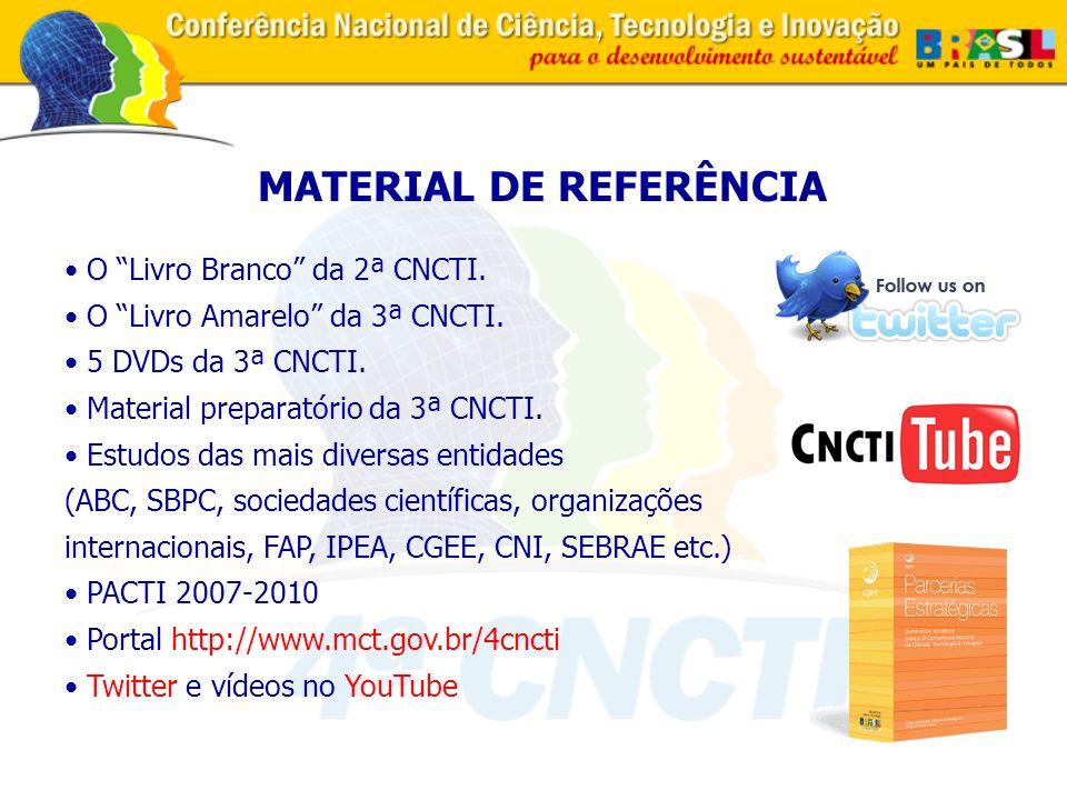 O Livro Branco da 2ª CNCTI. O Livro Amarelo da 3ª CNCTI.