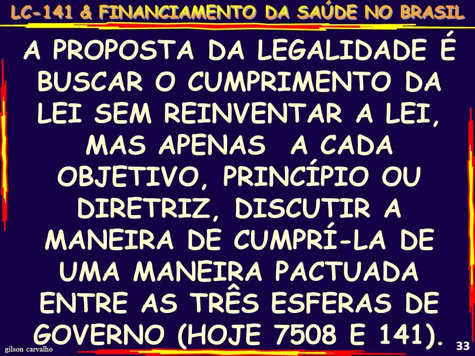 gilson carvalho 32 PACTO PELA SAÚDE: O ACORDO CONSENSUAL (ILEGAL) DOS ENTES PÚBLICOS PARA TENTAR CUMPRIR A LEI!!!...