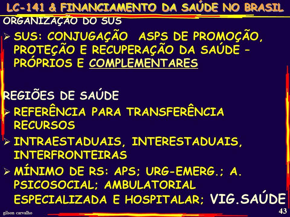 gilson carvalho 42 DECRETO 7508 – JUNHO 2011 – REGULAMENTA A LEI 8080 DISPOSIÇÕES PRELIMINARES DEFINIÇÕES - Região saúde; Contrato Organizativo ação P