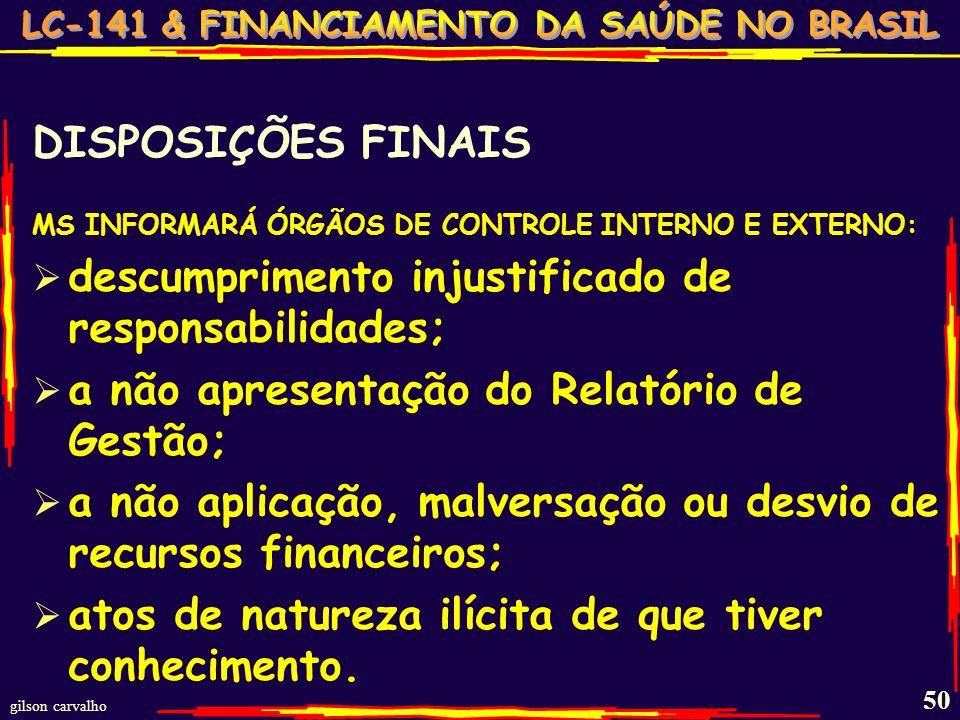 gilson carvalho 49 DISPOSIÇÕES ESSENCIAIS CIT-CIB necessidades loco-regionais; oferta ASPS regional e interregional; responsabilidades assumidas UEM;