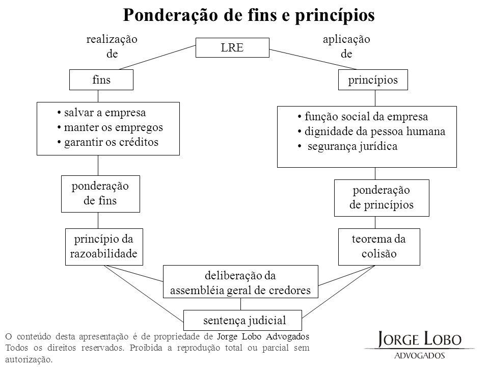 aplicação de realização de LRE finsprincípios salvar a empresa manter os empregos garantir os créditos função social da empresa dignidade da pessoa hu