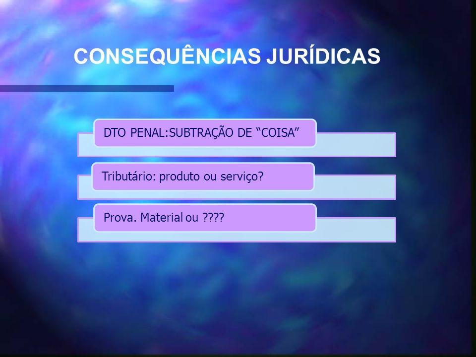 DTO PENAL:SUBTRAÇÃO DE COISATributário: produto ou serviço Prova.