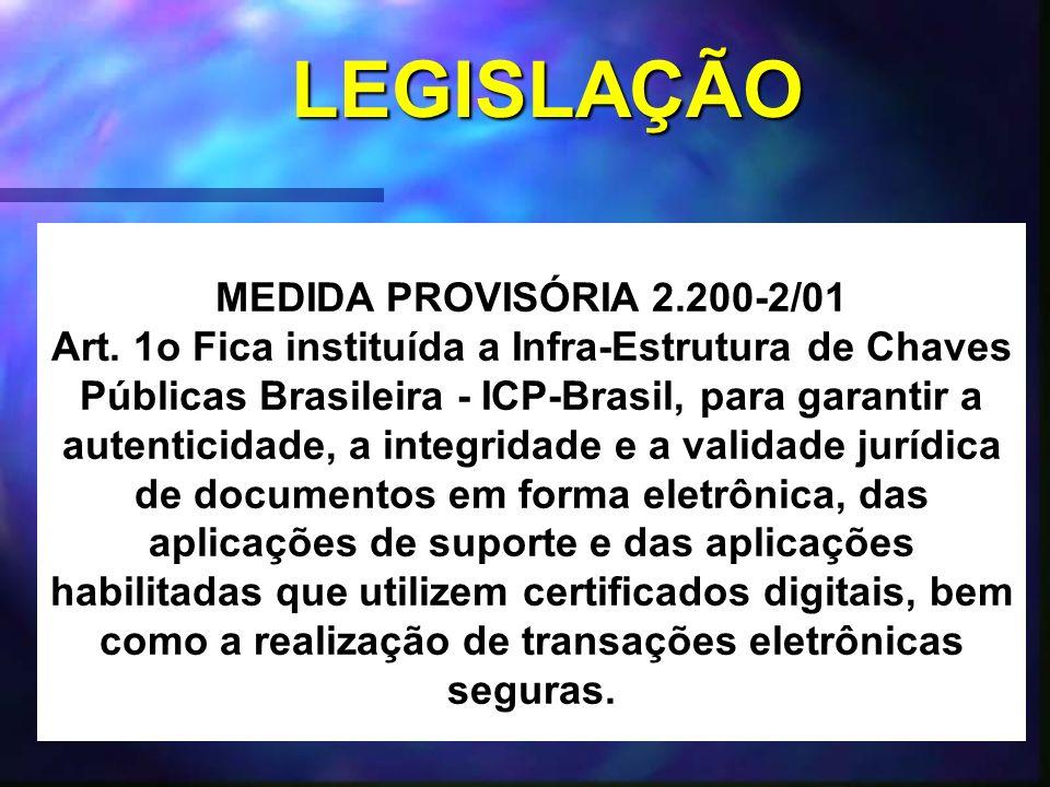 LEGISLAÇÃO MEDIDA PROVISÓRIA 2.200-2/01 Art.