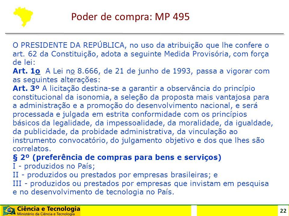 22 O PRESIDENTE DA REPÚBLICA, no uso da atribuição que lhe confere o art. 62 da Constituição, adota a seguinte Medida Provisória, com força de lei: Ar