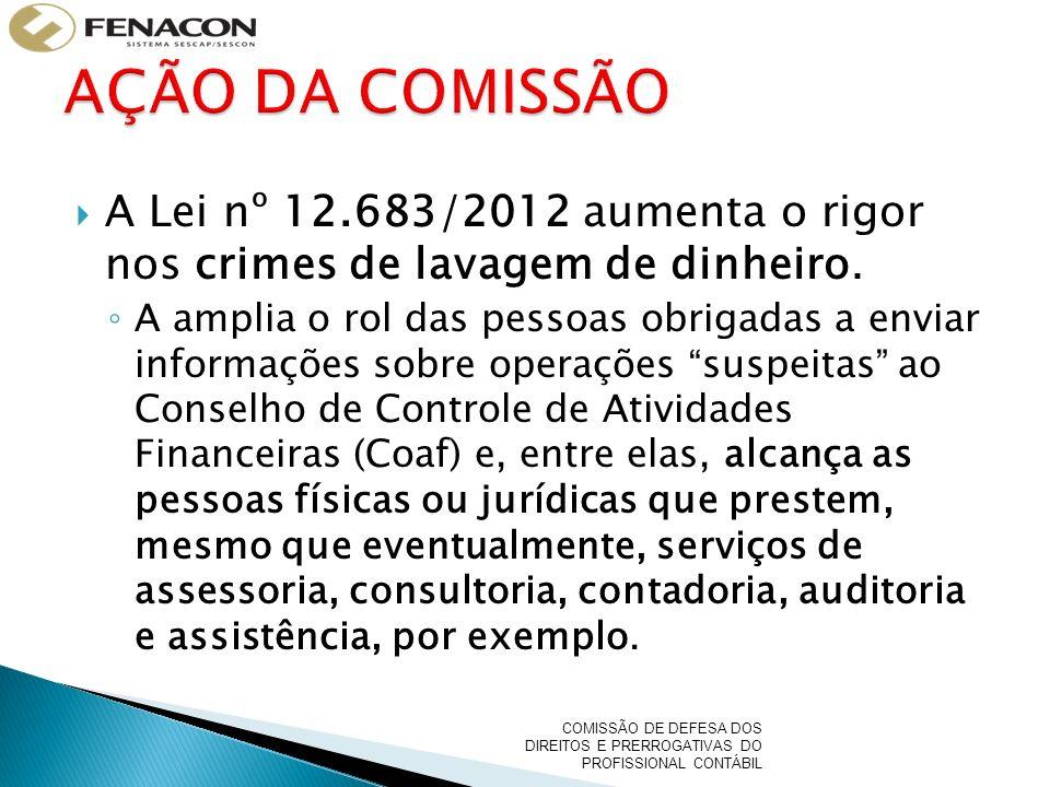 A Lei nº 12.683/2012 aumenta o rigor nos crimes de lavagem de dinheiro.