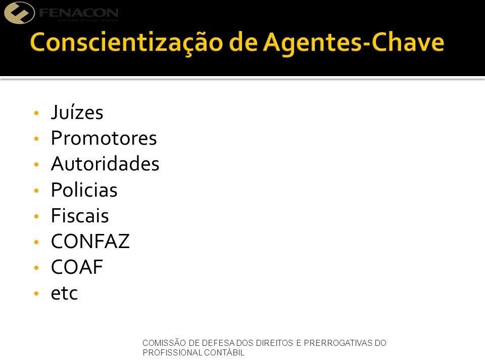 Juízes Promotores Autoridades Policias Fiscais CONFAZ COAF etc COMISSÃO DE DEFESA DOS DIREITOS E PRERROGATIVAS DO PROFISSIONAL CONTÁBIL