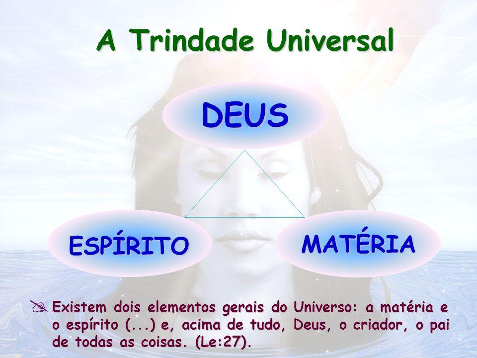 Existem dois elementos gerais do Universo: a matéria e o espírito (...) e, acima de tudo, Deus, o criador, o pai de todas as coisas. (Le:27). Existem