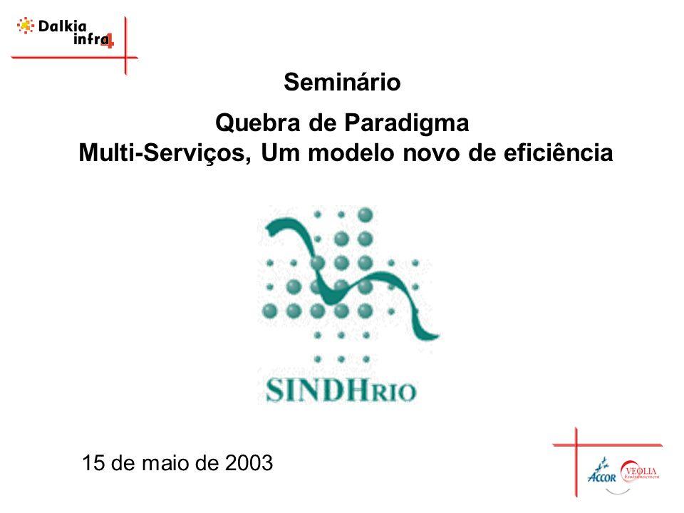 Seminário Quebra de Paradigma Multi-Serviços, Um modelo novo de eficiência 15 de maio de 2003