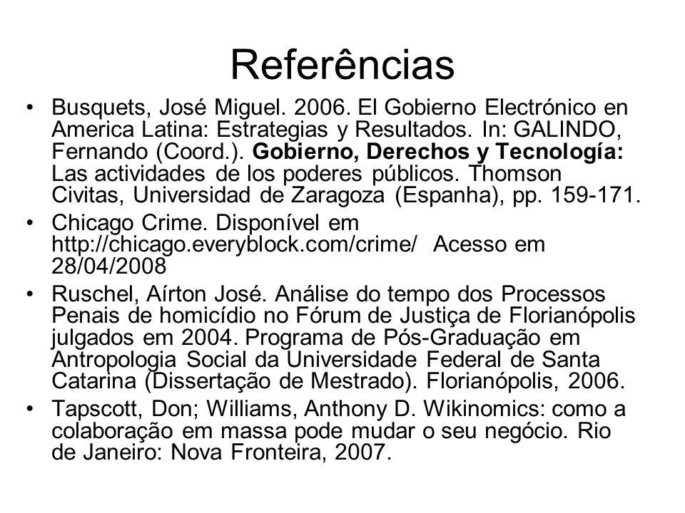 Referências Busquets, José Miguel.2006.