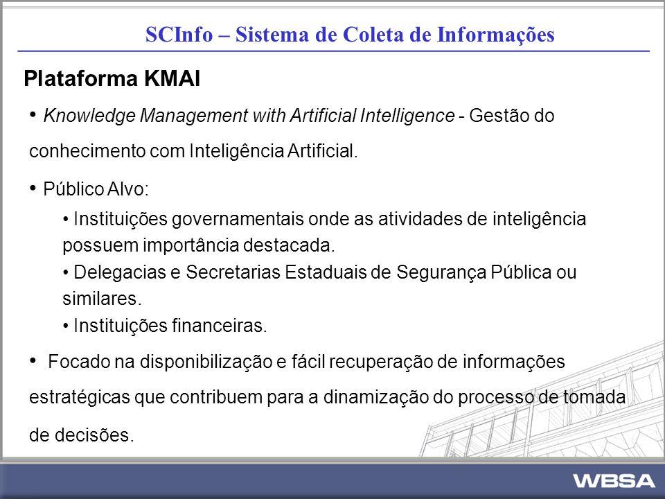 SCInfo – Sistema de Coleta de Informações _________________________________________________________ Plataforma KMAI Knowledge Management with Artificial Intelligence - Gestão do conhecimento com Inteligência Artificial.