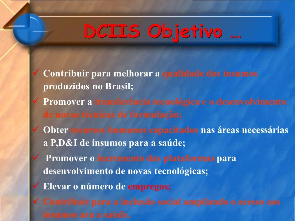 Contribuir para melhorar a qualidade dos insumos produzidos no Brasil; Promover a transferência tecnológica e o desenvolvimento de novas técnicas de f