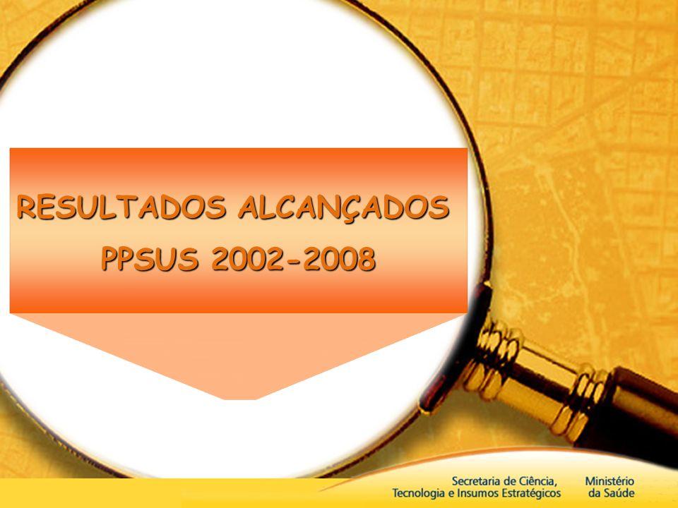RESULTADOS ALCANÇADOS PPSUS 2002-2008