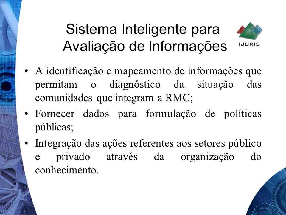 Sistema Inteligente para Avaliação de Informações A identificação e mapeamento de informações que permitam o diagnóstico da situação das comunidades q