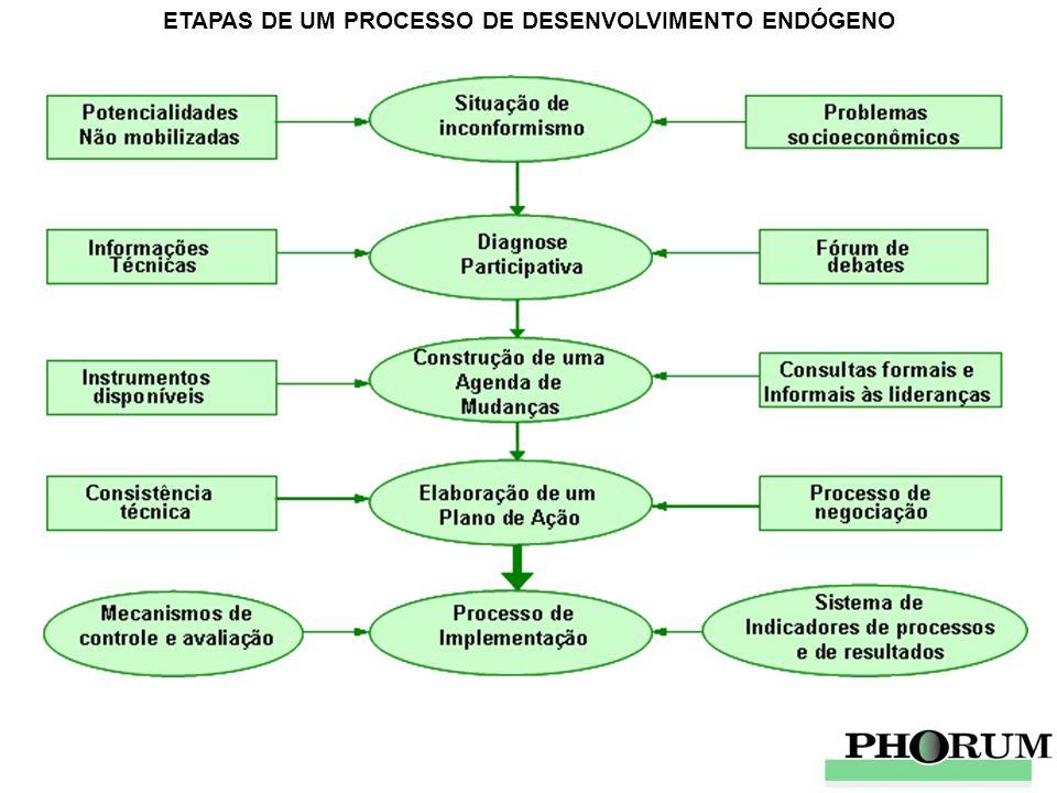 ETAPAS DE UM PROCESSO DE DESENVOLVIMENTO ENDÓGENO