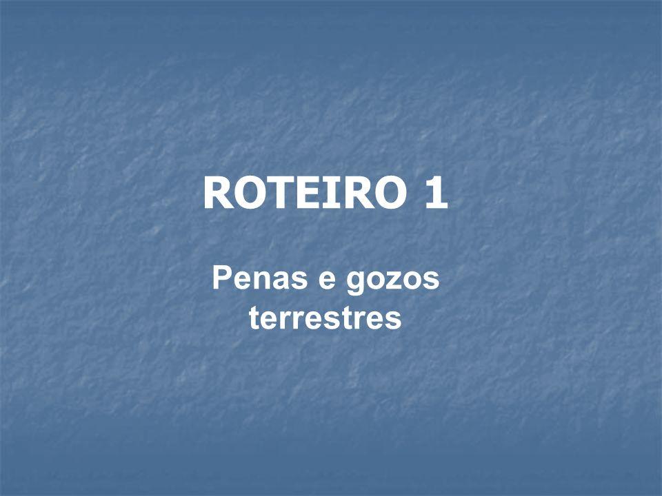 ROTEIRO 1 Penas e gozos terrestres
