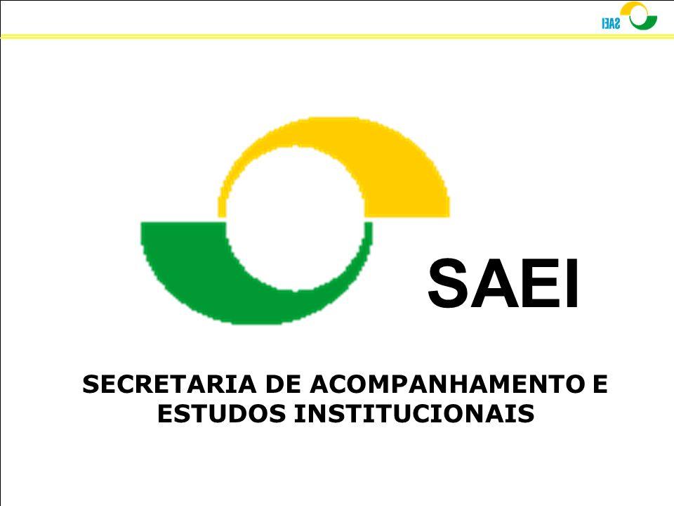 SAEI SECRETARIA DE ACOMPANHAMENTO E ESTUDOS INSTITUCIONAIS