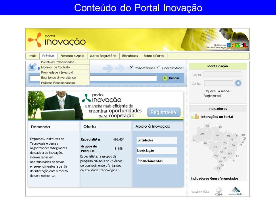 Conteúdo do Portal Inovação