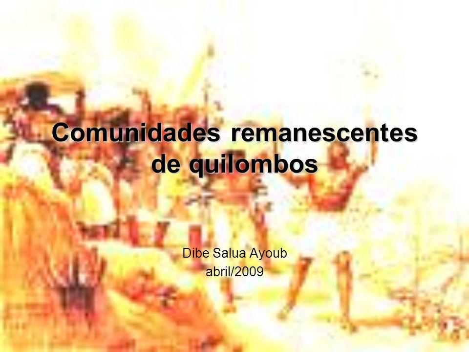 Comunidades remanescentes de quilombos Dibe Salua Ayoub abril/2009