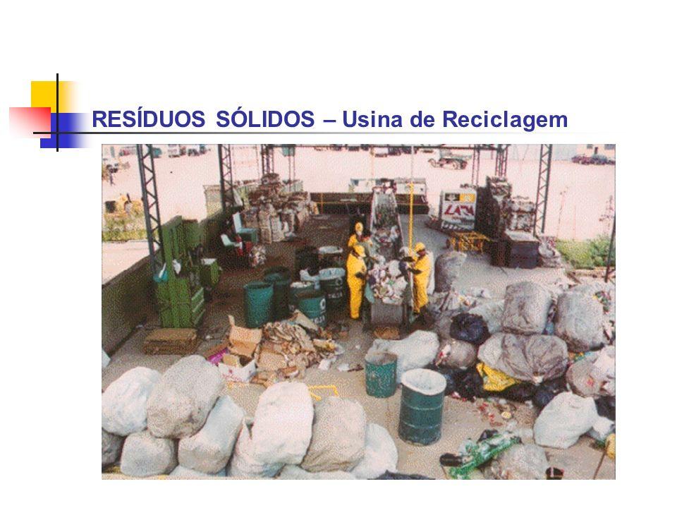 RESÍDUOS SÓLIDOS – Usina de Reciclagem