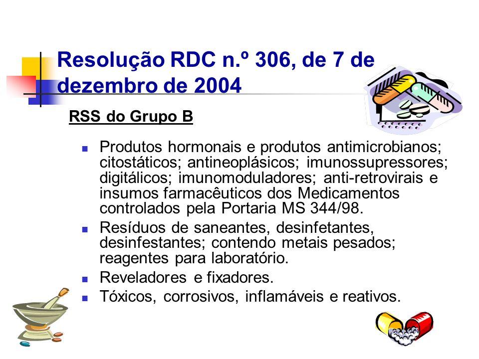 Produtos hormonais e produtos antimicrobianos; citostáticos; antineoplásicos; imunossupressores; digitálicos; imunomoduladores; anti-retrovirais e ins