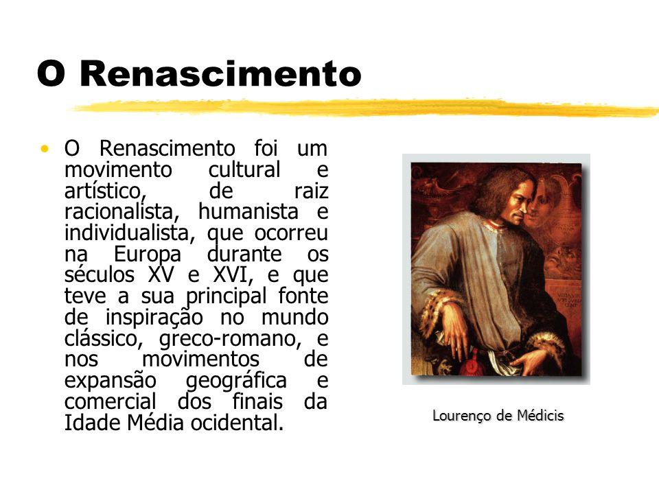 O Renascimento O Renascimento foi um movimento cultural e artístico, de raiz racionalista, humanista e individualista, que ocorreu na Europa durante o