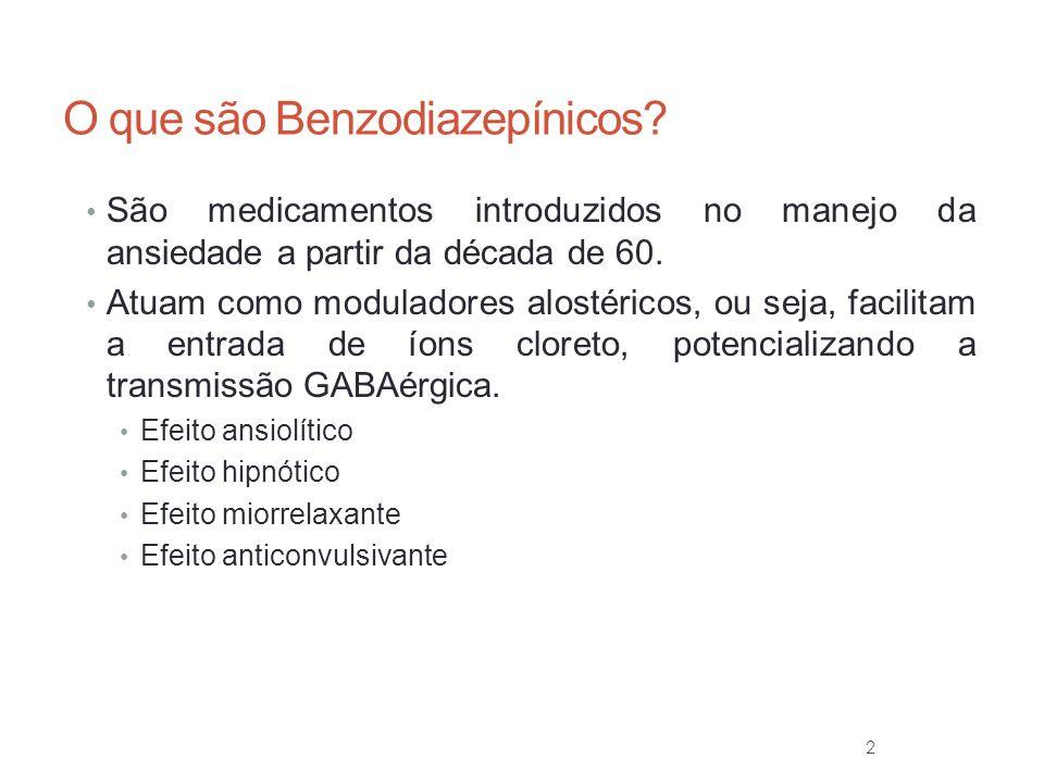 3 O que são Benzodiazepínicos.