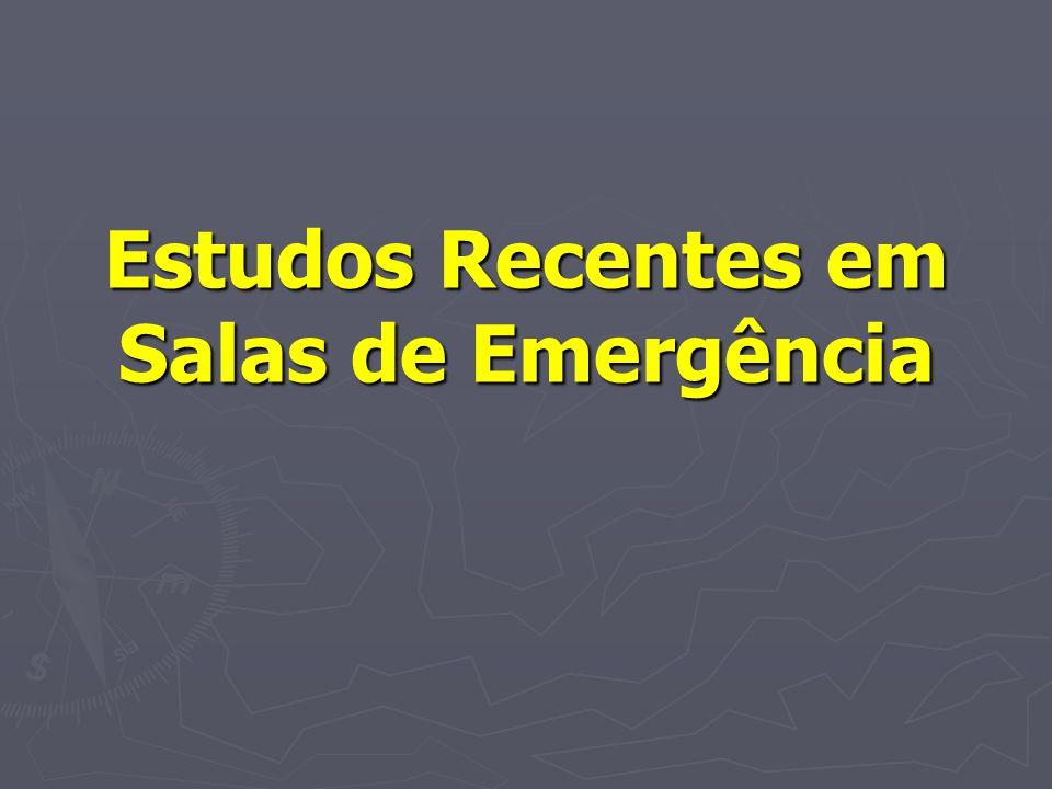 Estudos Recentes em Salas de Emergência