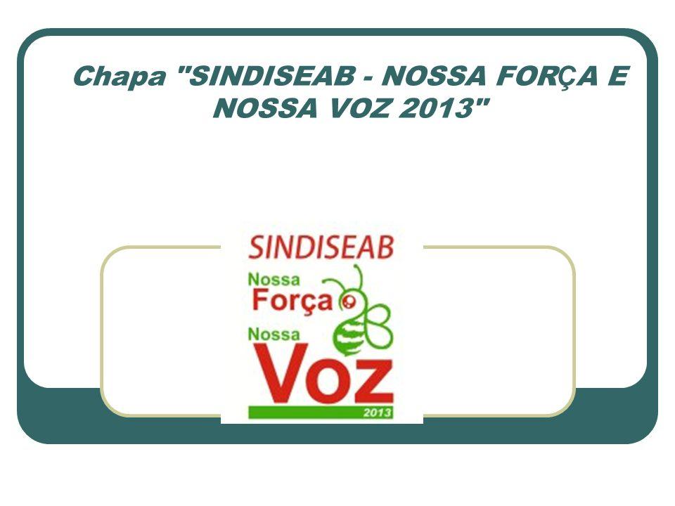 Chapa SINDISEAB - NOSSA FOR Ç A E NOSSA VOZ 2013