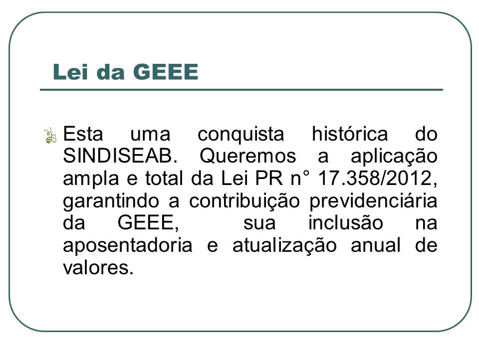 Lei da GEEE Esta uma conquista histórica do SINDISEAB.