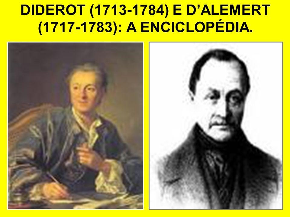 DIDEROT (1713-1784) E DALEMERT (1717-1783): A ENCICLOPÉDIA.