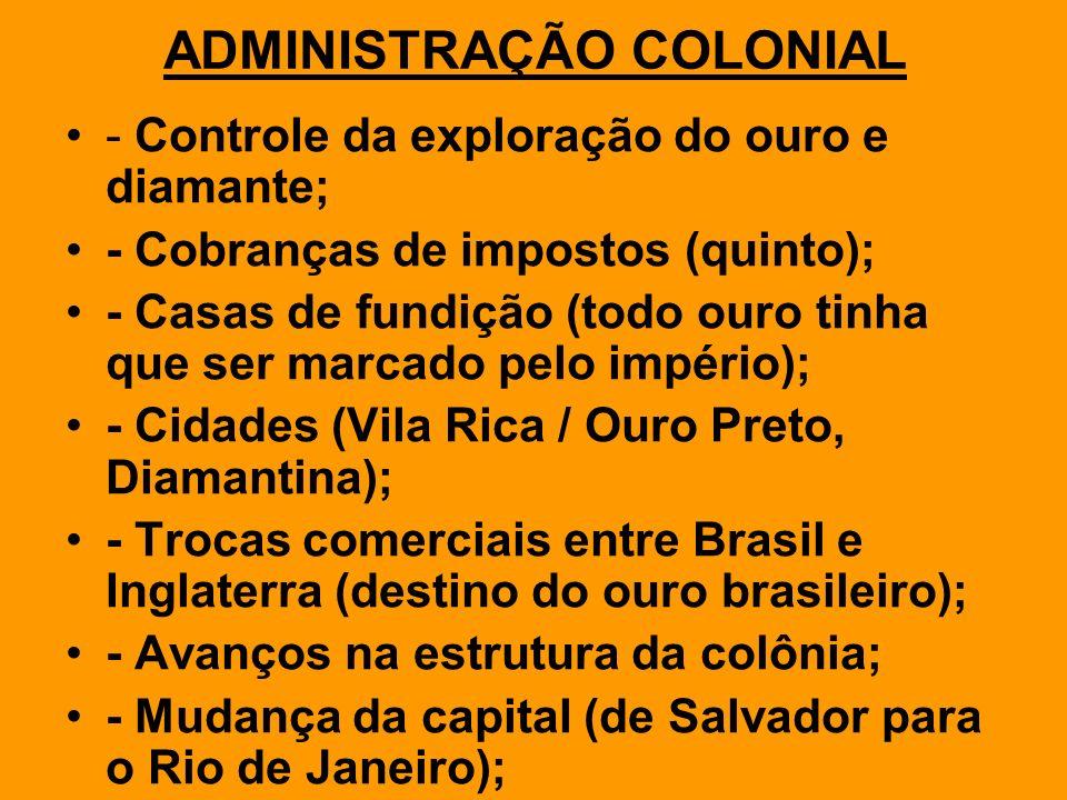 CONTOLE DO OURO: CASAS DE FUNDIÇÃO & O QUINTO.