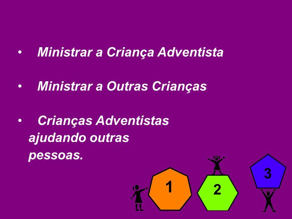 A Missão dos Ministérios da Criança na Divisão Sul Americana é ajudar cada criança adventista a desenvolver uma amizade redentora e permanente com Cristo, preparando-as para o serviço e um compromisso com a Igreja até o retorno de Jesus.