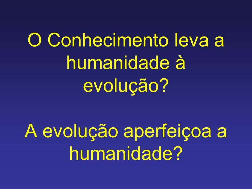 O Conhecimento leva a humanidade à evolução? A evolução aperfeiçoa a humanidade?