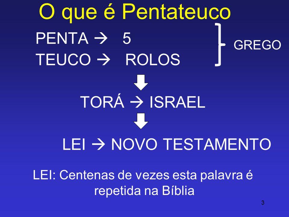 3 O que é Pentateuco PENTA 5 TEUCO ROLOS TORÁ ISRAEL LEI NOVO TESTAMENTO GREGO LEI: Centenas de vezes esta palavra é repetida na Bíblia